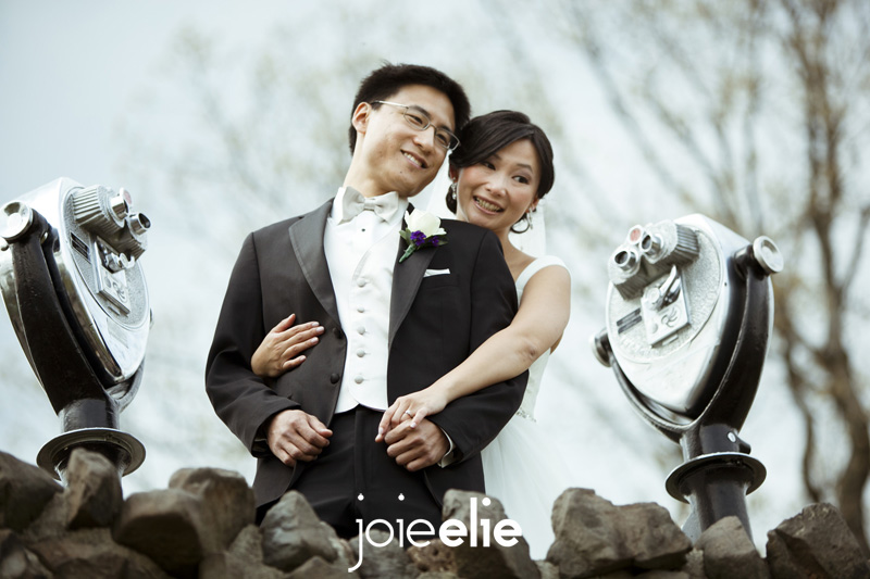wedding portrait at washington rock park nj