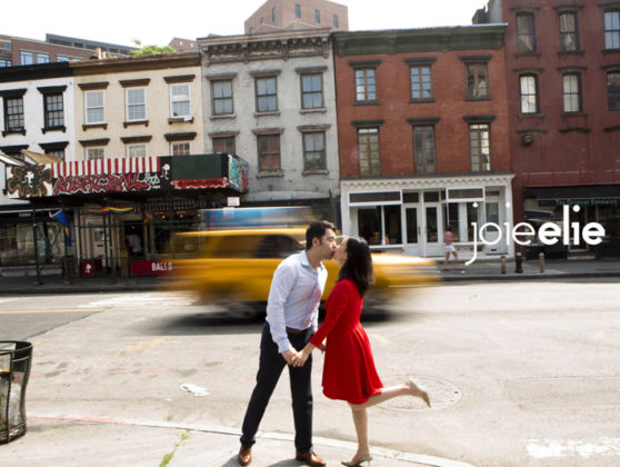 Goldie and Bob's engagement session at NYC